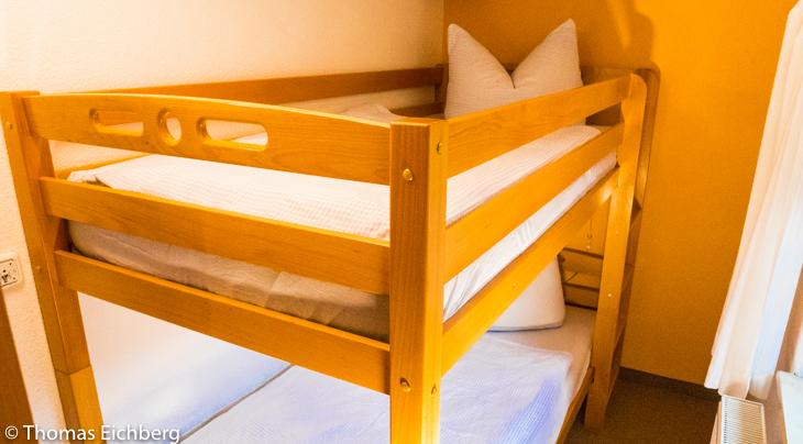 Ferienwohnung 4 - 5 Personen: Kinderzimmer mit Doppelstockbett
