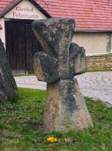 Das Sühnekreuz an unserer Einfahrt.
