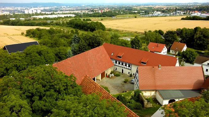 Luftbild_dreiseithof-Pension-Gaestehof-Fehrmann